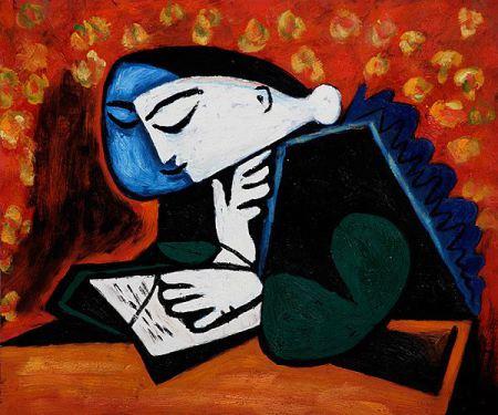 Πικάσο, Γυναίκα που διαβάζει, 1953